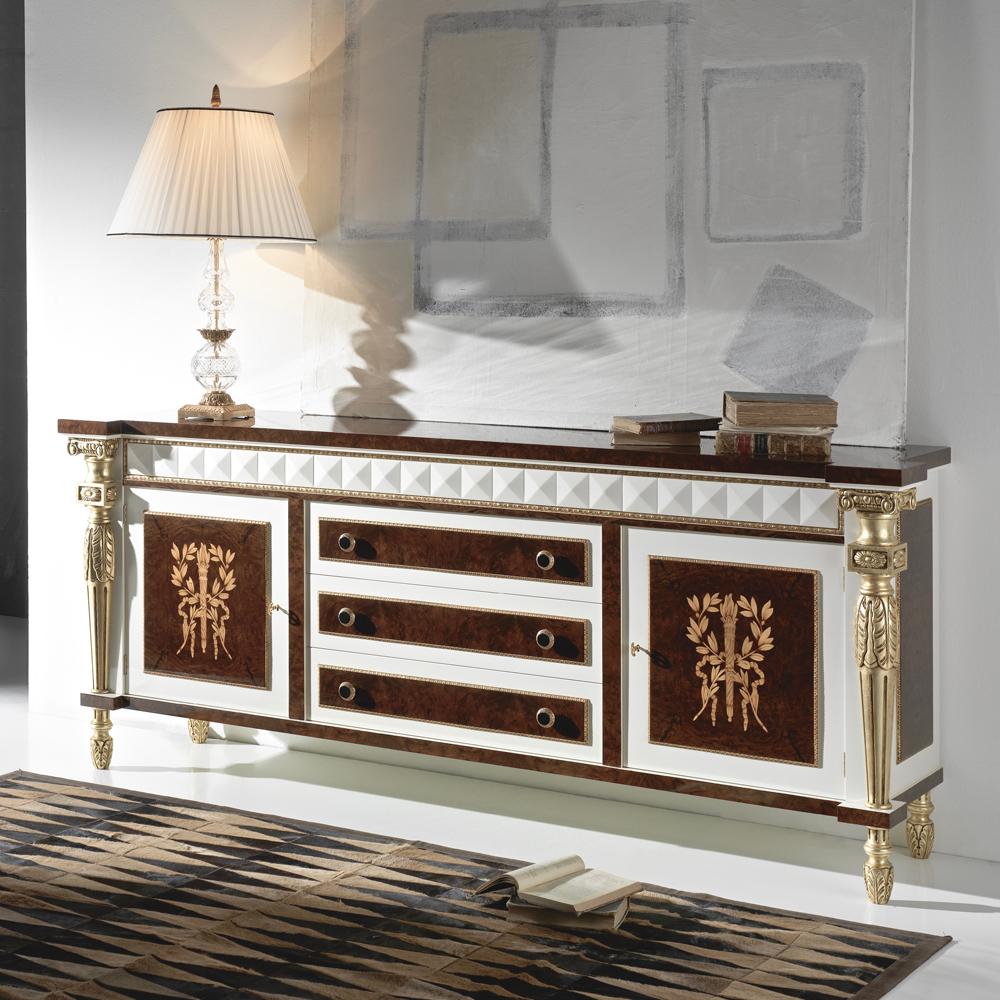 luxury white gloss sideboard