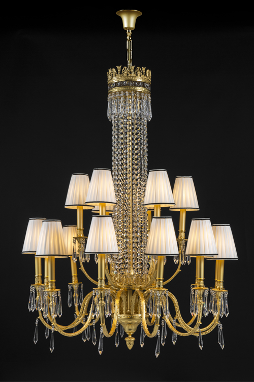 gold crystal chandelier, luxury crystal chandelier