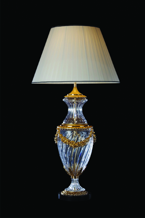 gold crystal table lamp