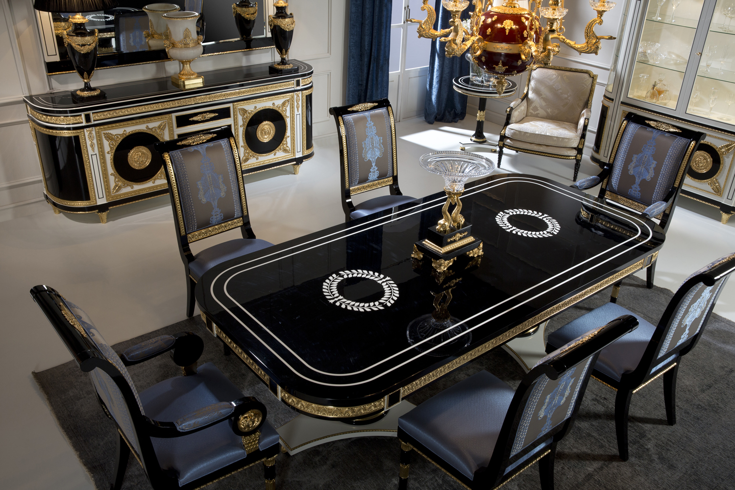 Luxury Dining Sets, High end dining table sets, luxury dining room furniture