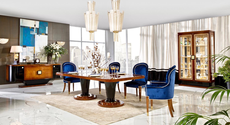 luxury contemporary dining set, luxury dining room furniture, art deco dining room furniture