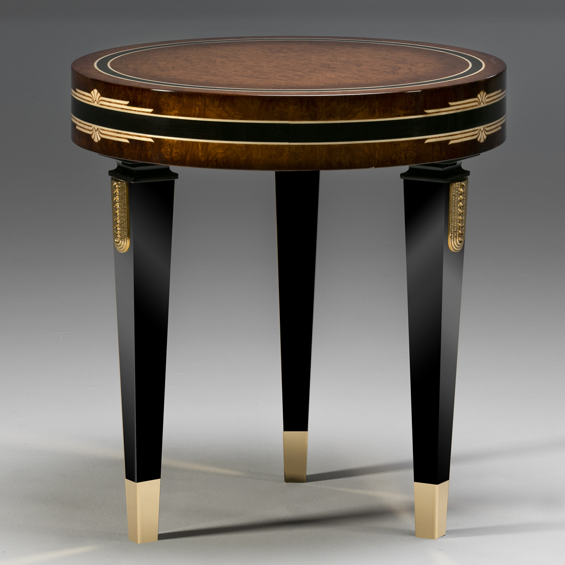 luxury art deco side table, high end art deco side table