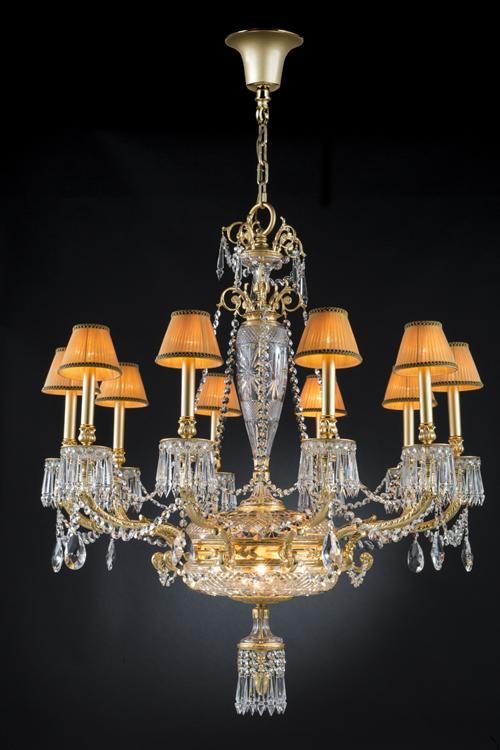 gold crystal chandelier, luxury classic chandelier