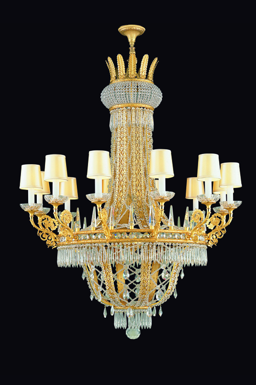 gold crystal chandelier, luxury chandelier