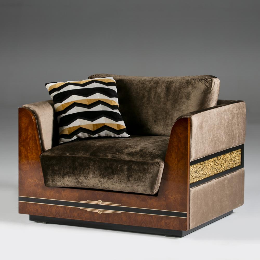 luxury art deco Armchair, high end art deco armchair
