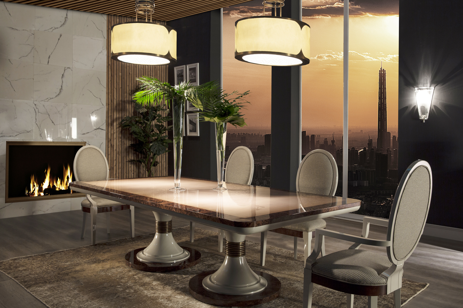 luxury dining table sets, high end dining table sets