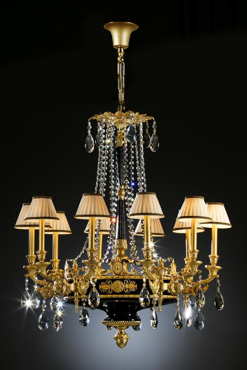 gold crystal chandelier, high end chandelier