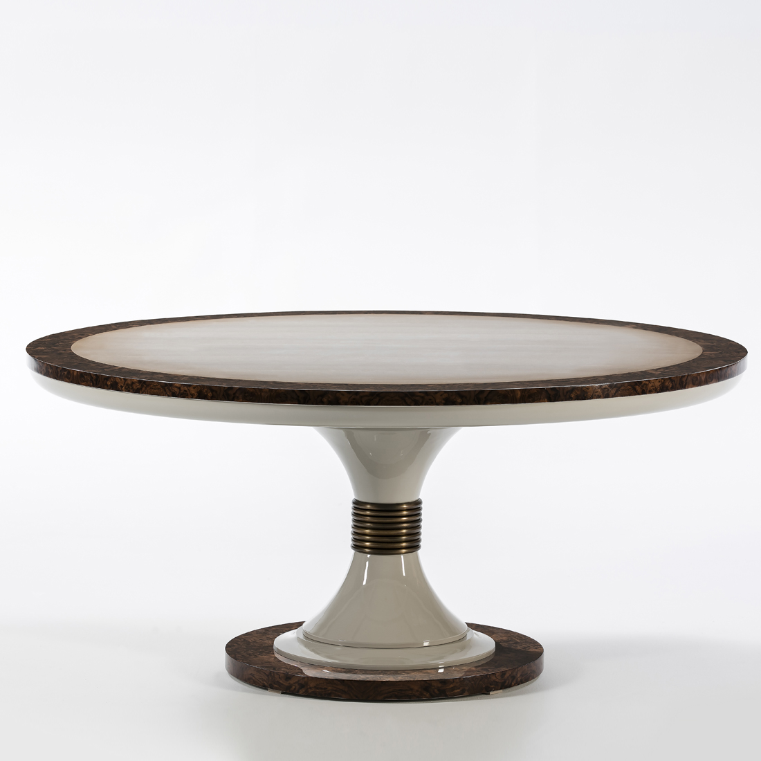 luxury round dining table, high end round dining table, contemporary round dining table